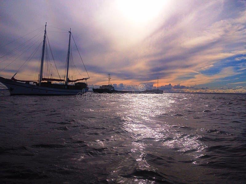 Mañana en el golfo de Finlandia fotos de archivo