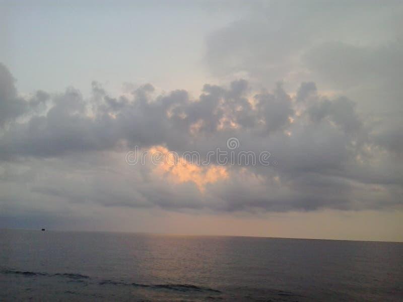 Mañana en el mar fotografía de archivo