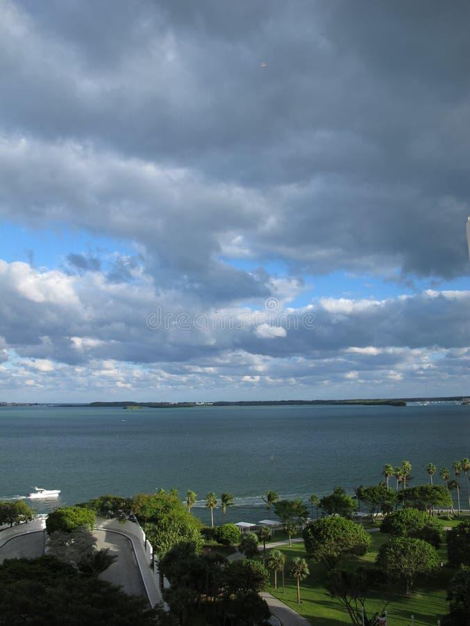 Mañana en la bahía de Biscayne imagen de archivo