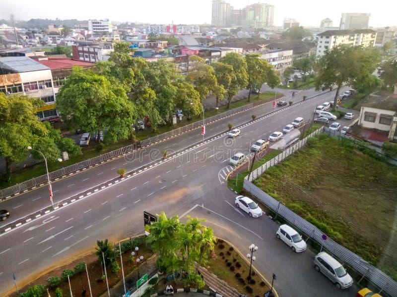 Mañana en la ciudad de Kuching imagen de archivo libre de regalías