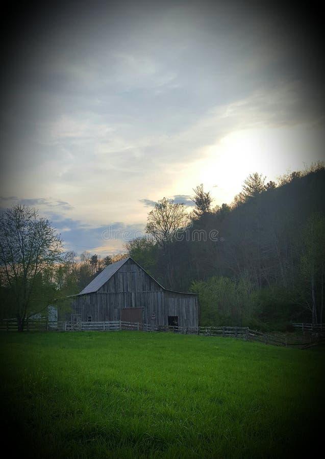 Mañana en la granja fotografía de archivo