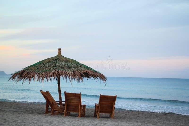 Mañana en la playa imagen de archivo