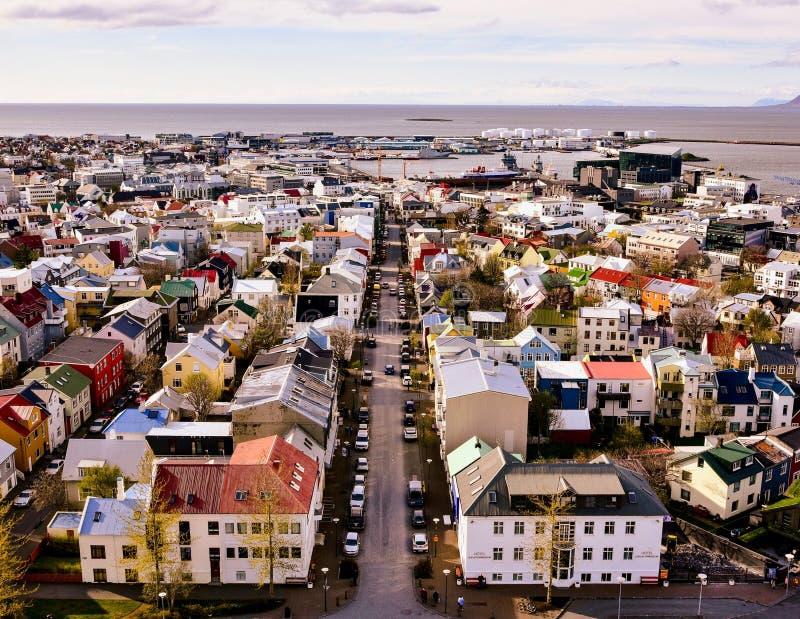 Mañana en Reykjavik foto de archivo