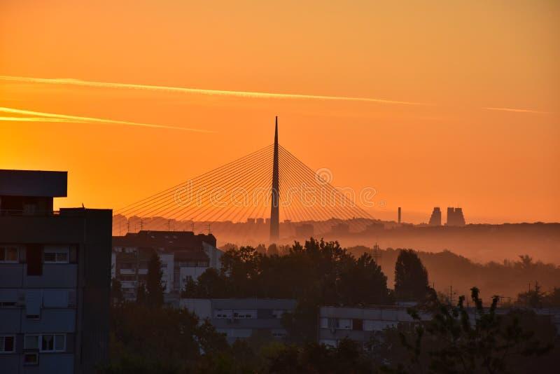 Mañana hermosa en Belgrado foto de archivo libre de regalías