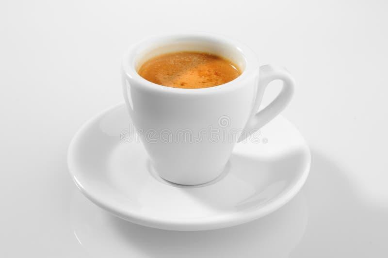 Mañana la taza de café express foto de archivo