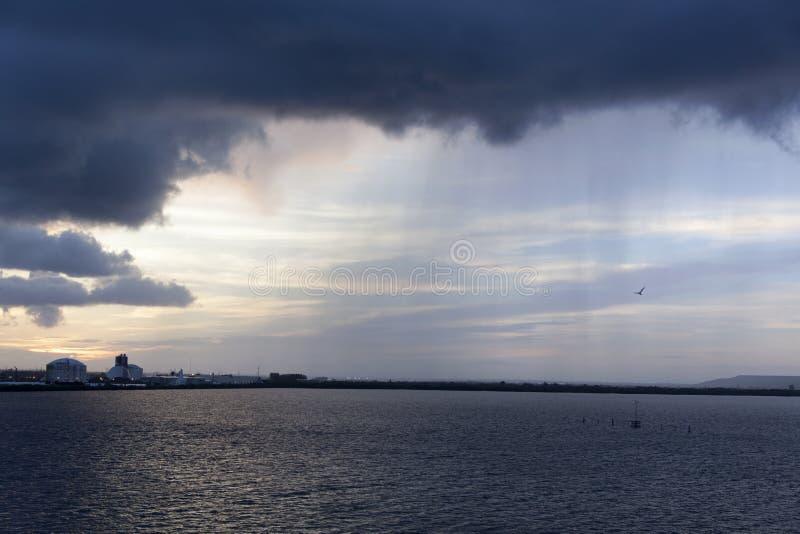 Mañana lluviosa en Tampa foto de archivo