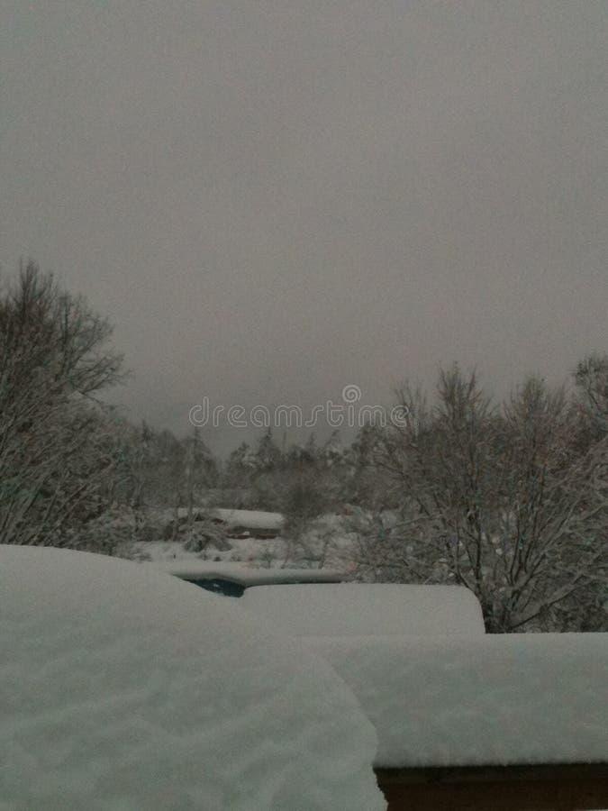 Mañana Nevado foto de archivo