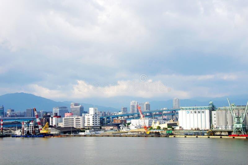 Mañana portuaria de Fukuoka foto de archivo libre de regalías