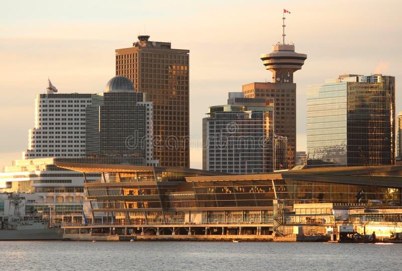 Mañana Sun del centro de convención de Vancouver foto de archivo libre de regalías