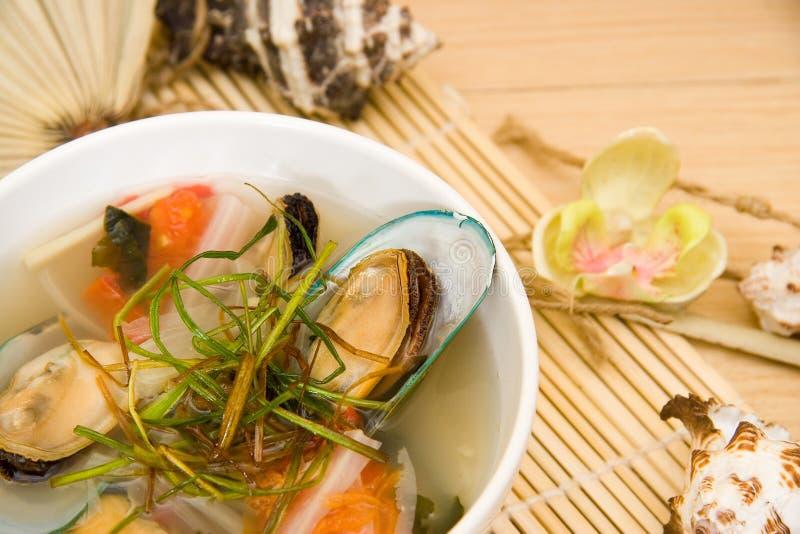małża zupę. zdjęcie stock