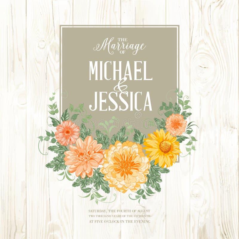 Małżeństwa zaproszenia karta ilustracji