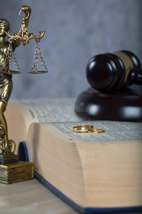 Małżeństwo dzwoni na gęstej książce zdjęcie stock