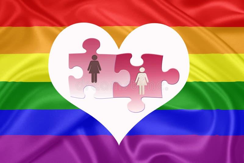 Małżeństwo pary tej samej płci ilustracja wektor