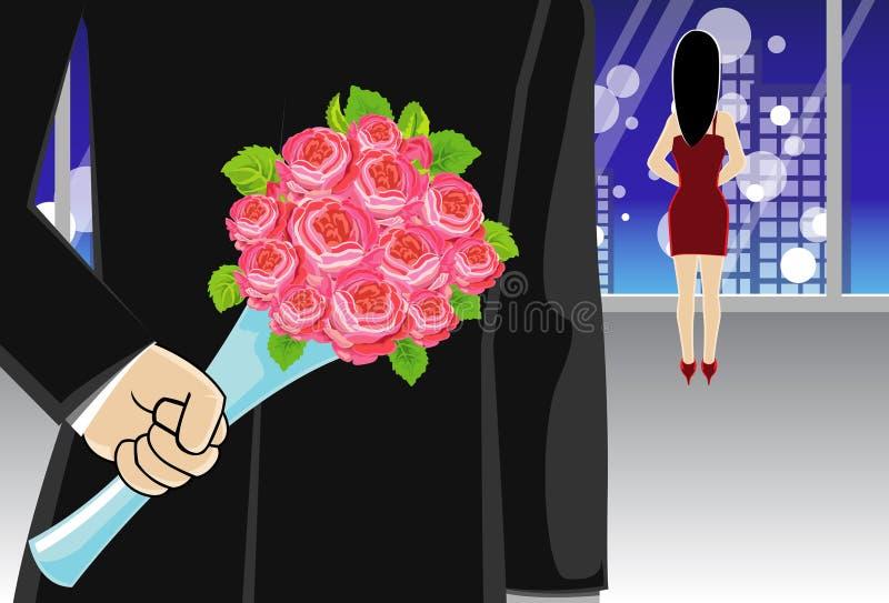 małżeństwo propozycja ilustracja wektor