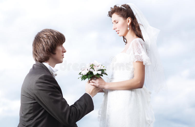 Małżeństwo Propozycja Fotografia Royalty Free