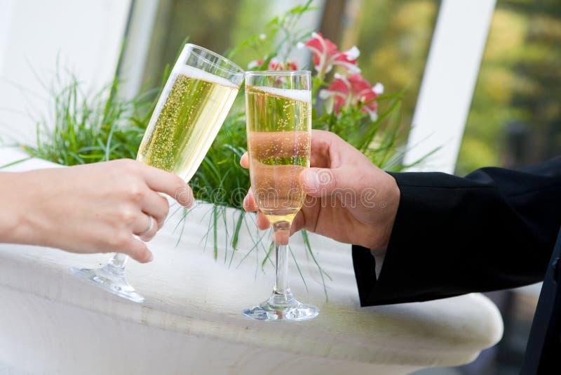 małżeństwo szampania obraz royalty free