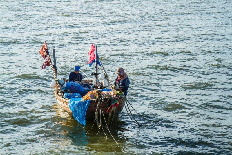 mała łódź na ryby zdjęcie stock