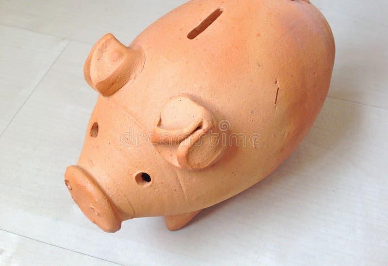Mała świnia glina zdjęcia royalty free