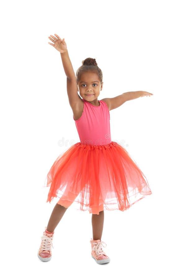 Mała amerykanin afrykańskiego pochodzenia balerina fotografia royalty free