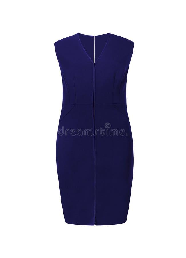 Mała błękit suknia z rhinestones odizolowywającymi fotografia royalty free
