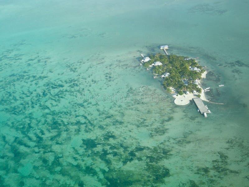 mała Belize wyspa obraz royalty free