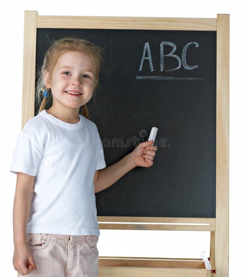 mała blackboard dziewczyna obrazy stock