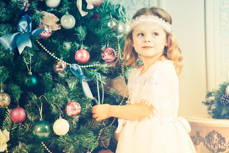 mała Boże Narodzenie dziewczyna obraz stock