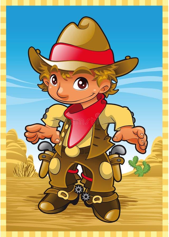 mała chłopiec krowa ilustracji