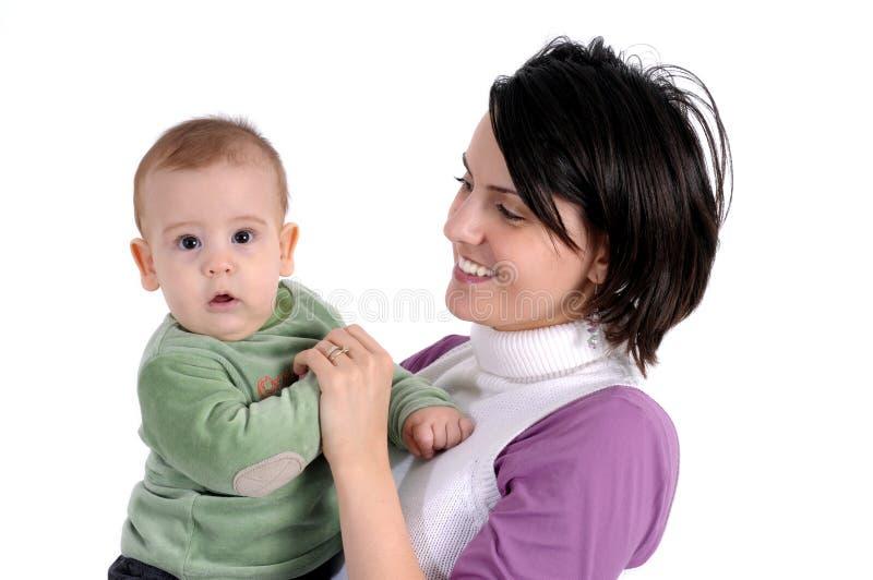 mała chłopiec mama fotografia stock