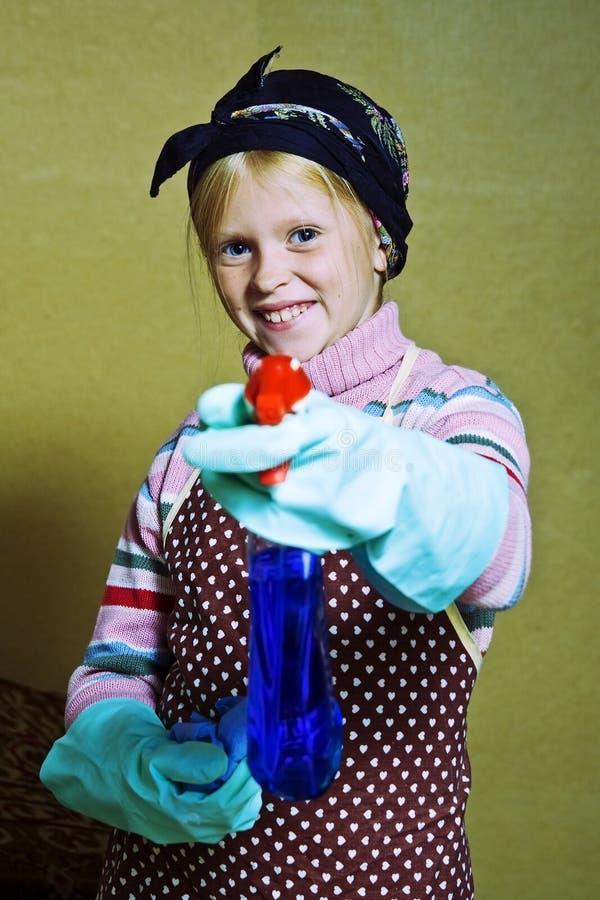 mała cleaning dama zdjęcie royalty free