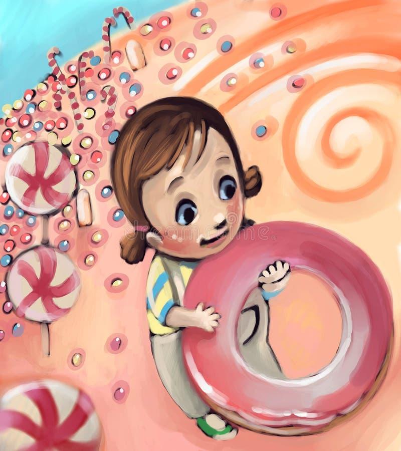 mała cukierek dziewczyna ilustracja wektor