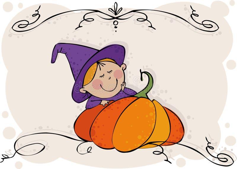 mała czarownica ilustracja wektor
