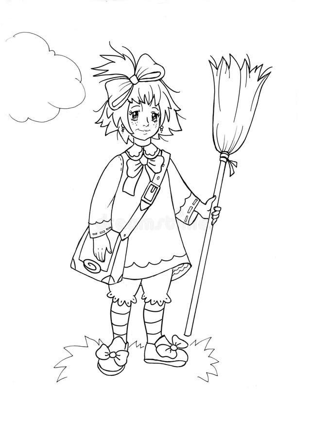 mała czarownica ilustracji