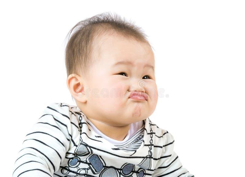 Mała dziecka pout warga zdjęcie stock