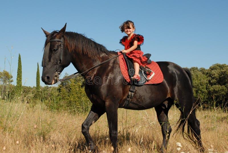 mała dziewczyna konia obrazy royalty free