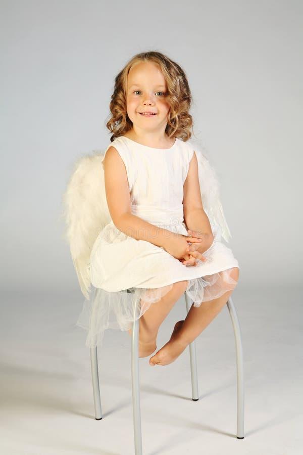 mała dziewczynka anioł obrazy stock