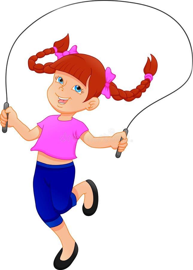 Mała dziewczynka bawić się omijający arkanę royalty ilustracja