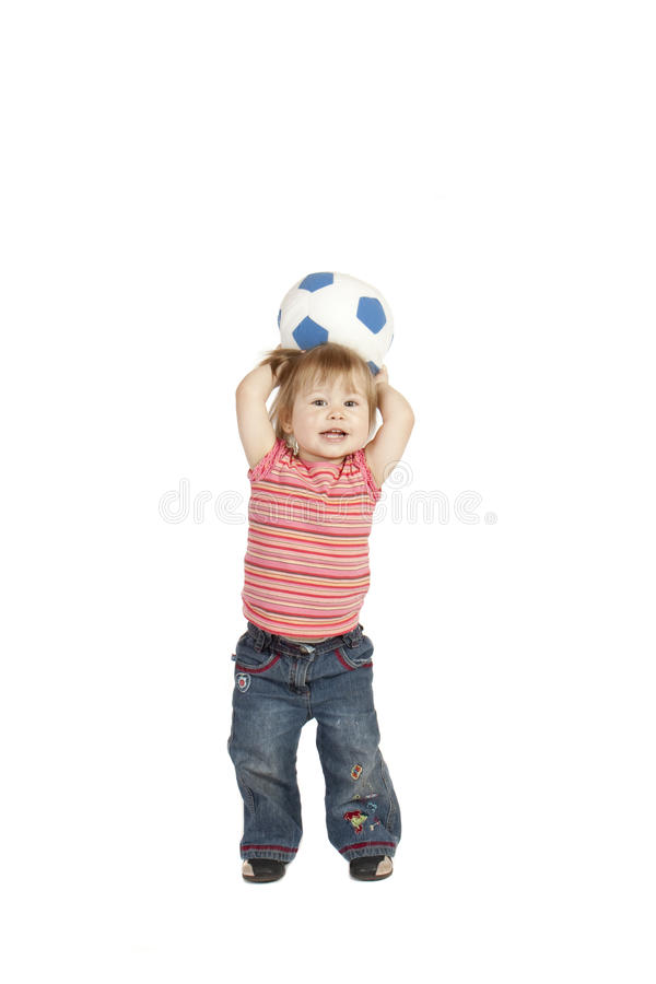 Mała Dziewczynka Bawić się w studiu fotografia stock
