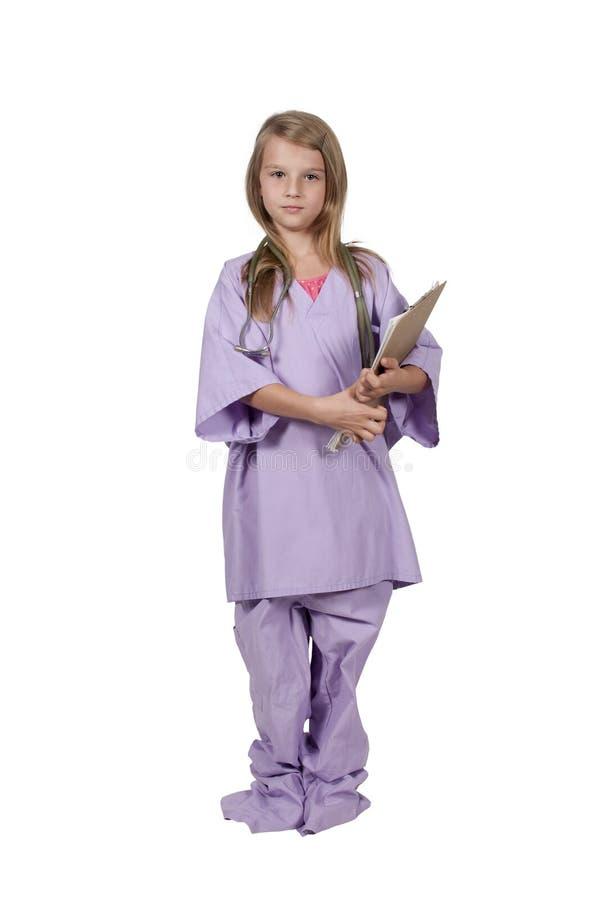 Mała Dziewczynka chirurg fotografia stock