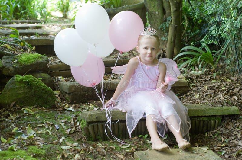 Mała dziewczynka jako baśniowy baletniczy princess zdjęcia royalty free