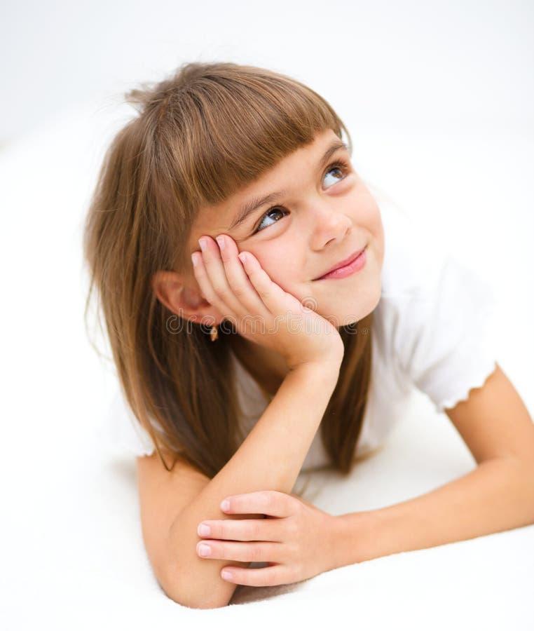 Mała dziewczynka marzy obraz stock