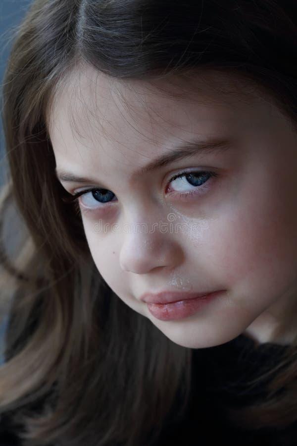 Mała Dziewczynka płacz obraz royalty free