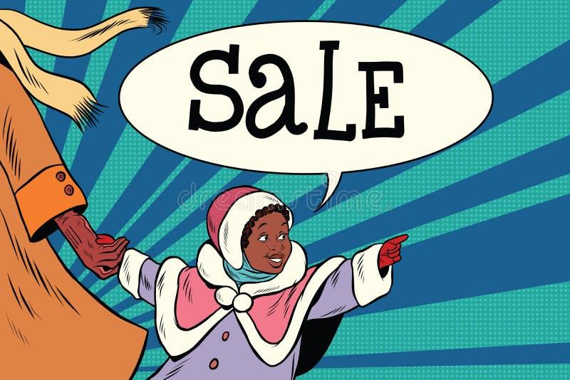 Mała dziewczynka rocznik zobaczył sprzedaż royalty ilustracja