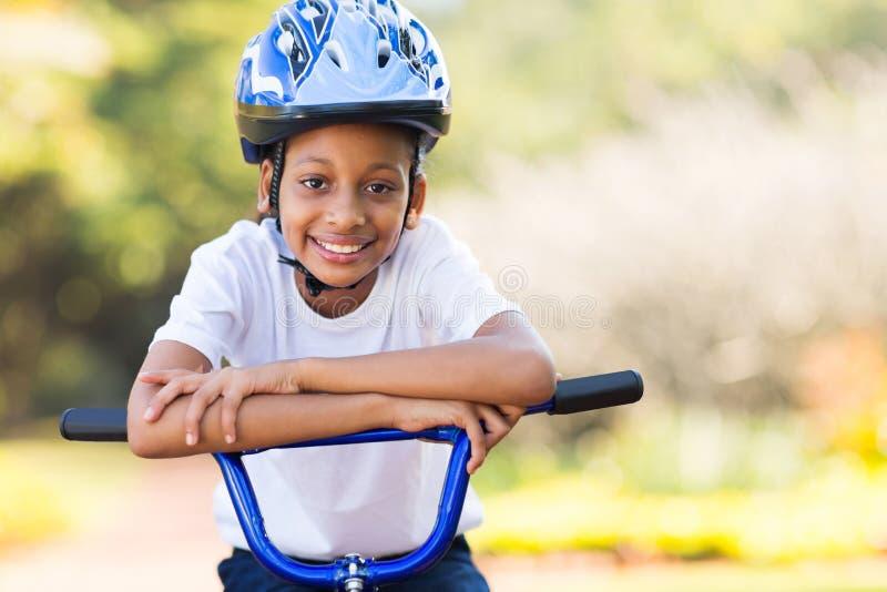 Mała dziewczynka rower obraz stock