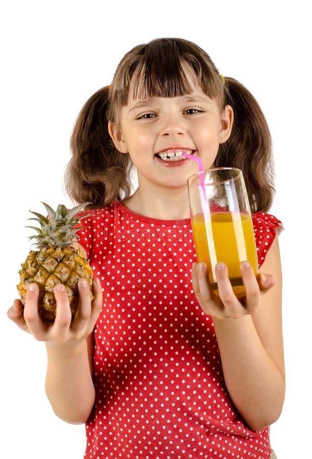 mała dziewczynka sok zdjęcie stock