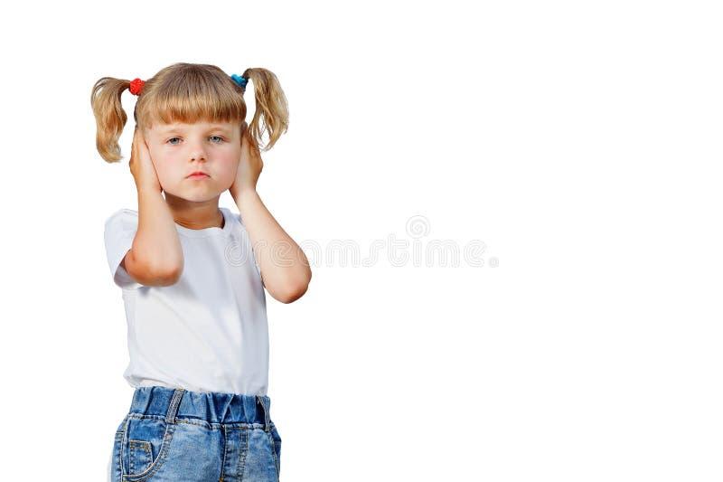 Mała dziewczynka spadał chorą fotografia stock