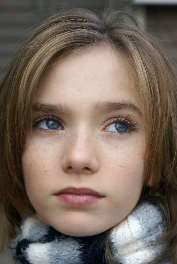 mała dziewczynka szalik fotografia stock