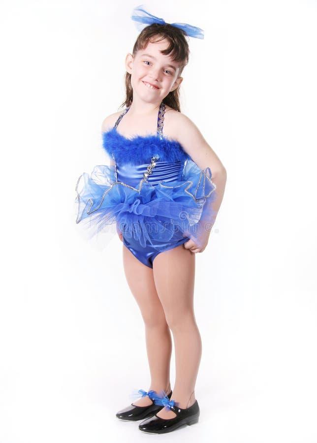 mała dziewczynka tancerzem. zdjęcie stock
