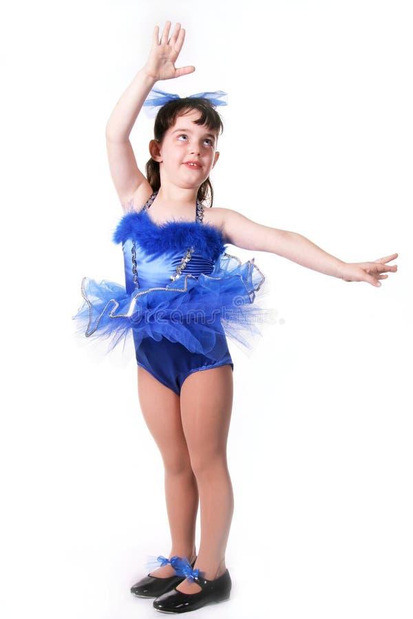 mała dziewczynka tancerzem. fotografia stock