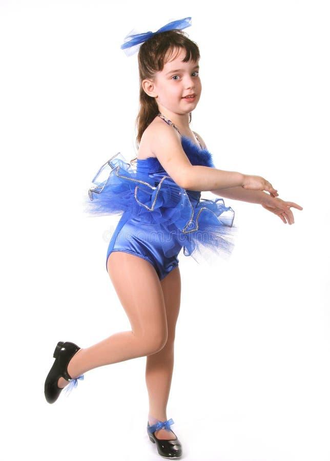 mała dziewczynka tancerzem. zdjęcia stock